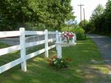 Vinyl Fence and Mail Box